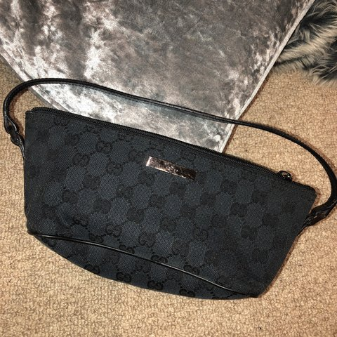 7397f719e02306 ... 06b6247f9e7 Selling this GENUINE VINTAGE GUCCI black monogram clutch bag  - Depop ...