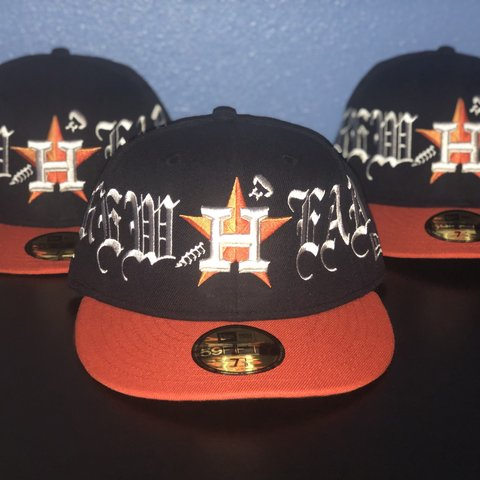 e611e925b45 VLONE Screwhead Houston Astros Fitted Hat from the Houston 7 - Depop