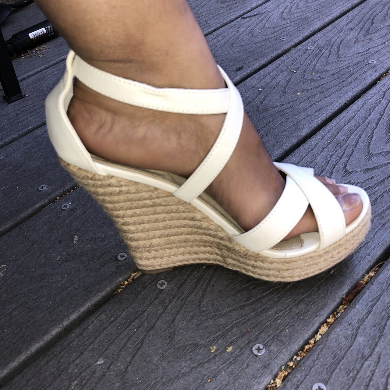 ae06b823f86 PRICE DROP!! Cathy jean wedges. Perfect for fall. Cute with - Depop