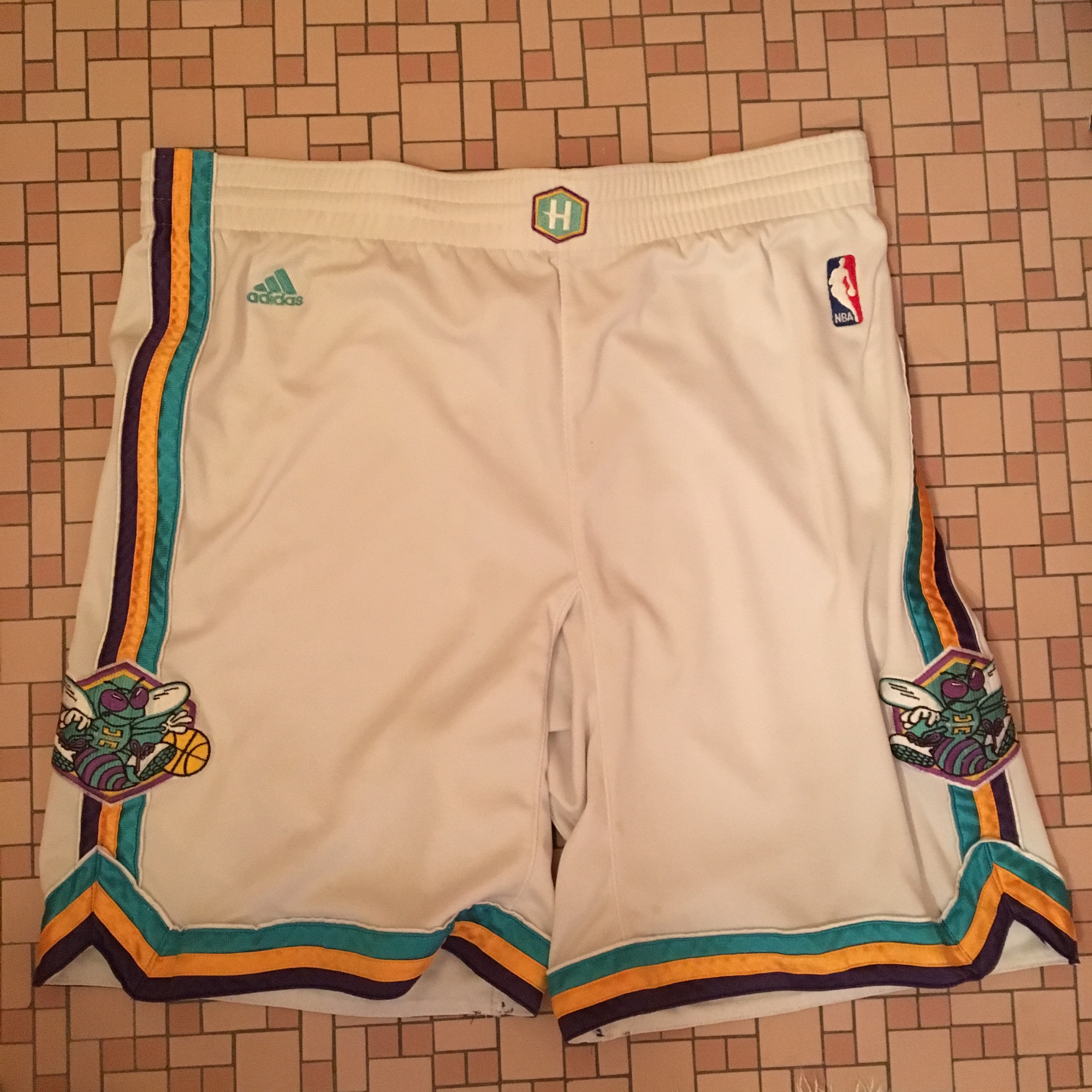 Vintage Adidas New Orleans Hornets Nba Shorts Great Depop