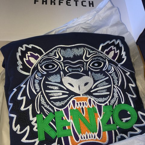6ab2528c Kenzo jumper tiger logo Bought from farfetch Brand new and - Depop
