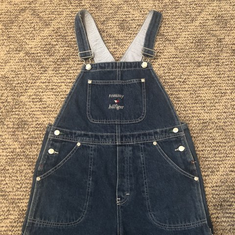45d36a41 @cicinoelle. 2 days ago. Minneapolis, United States. Women's size L vintage  Tommy Hilfiger overalls