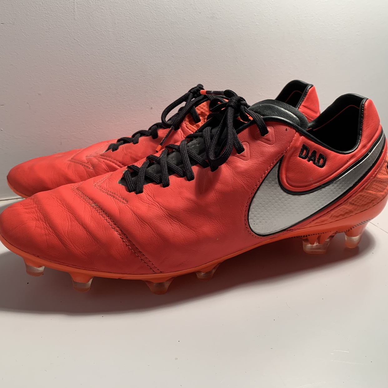 wholesale dealer c102a 58ff2 Nike Tiempo Football Boots UK Size 10 Personalised... - Depop