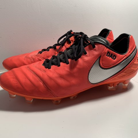 3deac8c35c2f63 Nike Tiempo Football Boots UK Size 10 Personalised... - Depop