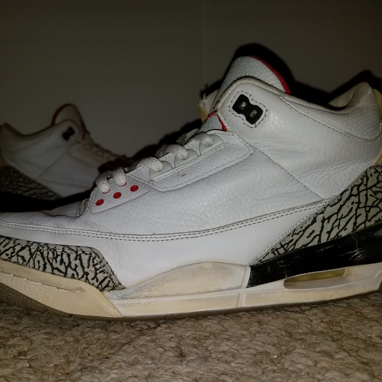 factory authentic e5746 45c46 2003 Nike Air Jordan 3 White Cement Mens size... - Depop