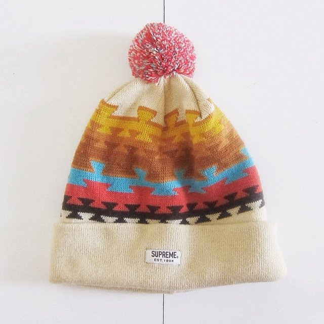 Supreme Pom  Beanie in Aztec print. Like new condition f5c8758a99d