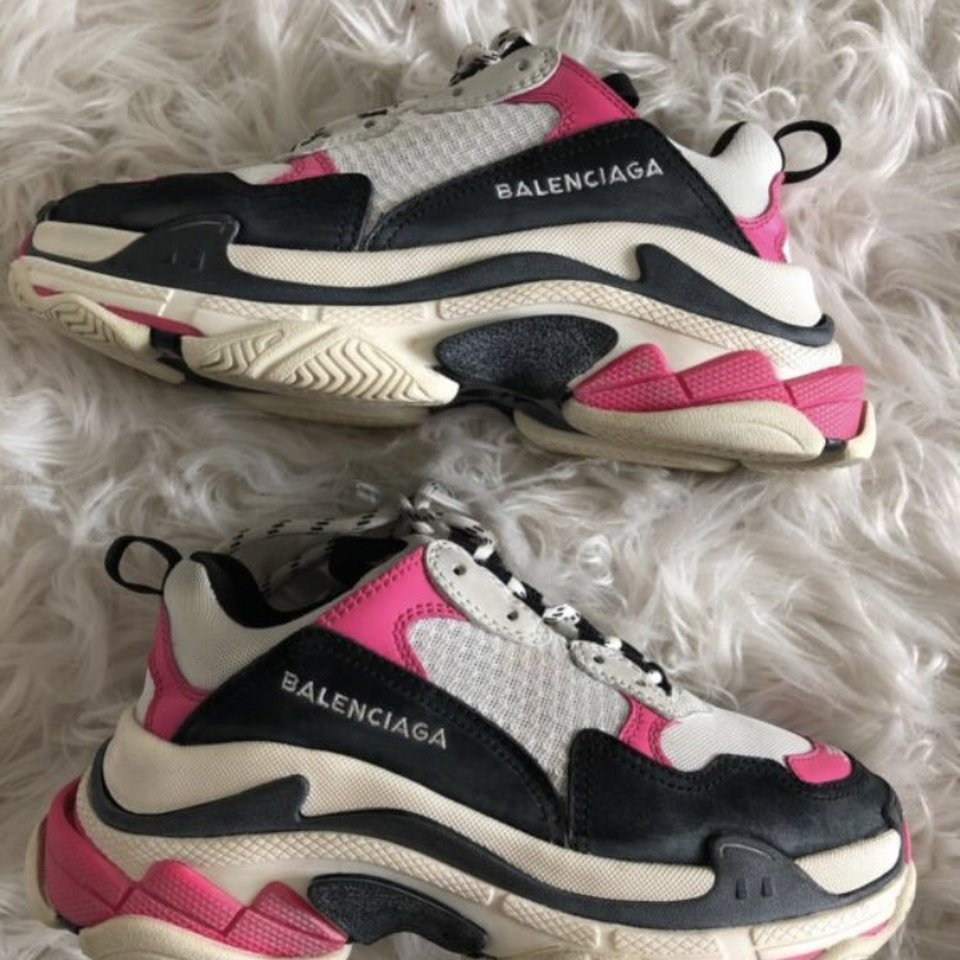 Balenciaga Triple S Split Black Grey Vogue Philtre Terminal