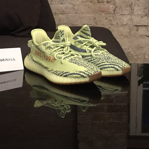 c8582017e17ee Adidas Yeezy Boost 350 V2. Semi frozen yellow colourway. and - Depop