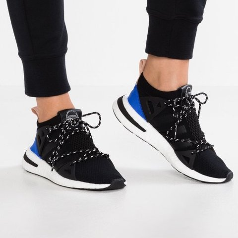 new style e6859 63522 Adidas Arkyn Trainers WORN ONCE Black Blue Sock Gym Trainers - Depop