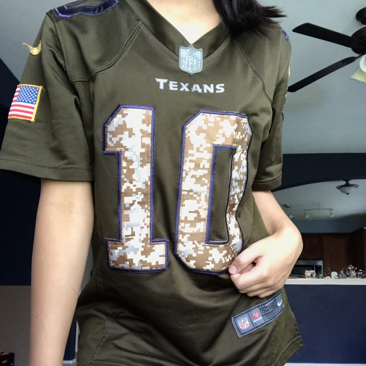 new style ad809 63c4c Houston Texans military jersey Deandre Hopkins... - Depop