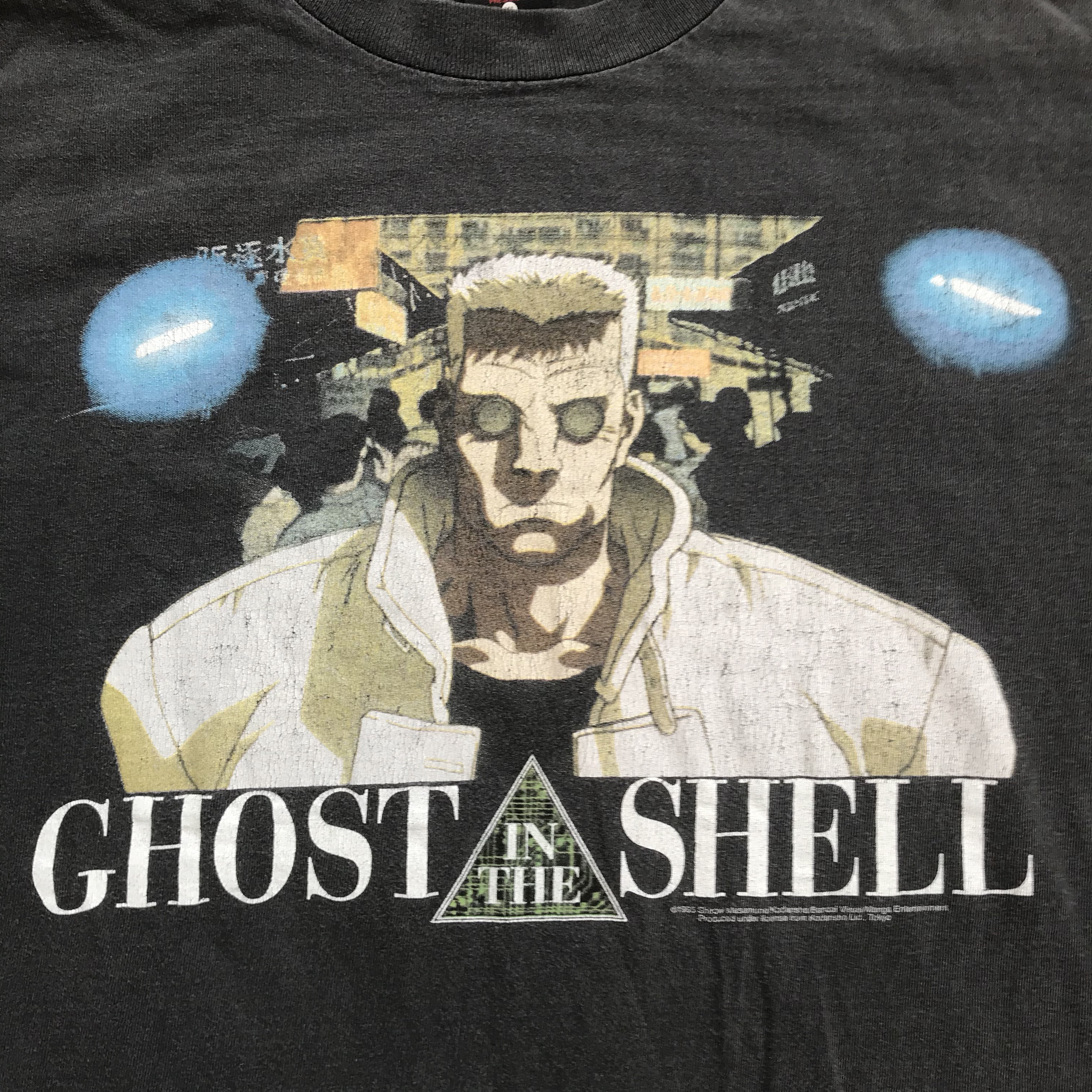 1995 Perfectly Worn Vintage 90s Anime T Shirt Ghost Depop