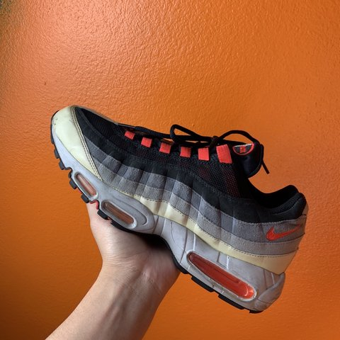 6d13cfe6cf @gatorclub. 22 days ago. Whittier, United States. Y2K Nike Air max 95•  condition is 8/10• men's 11• black hot red •