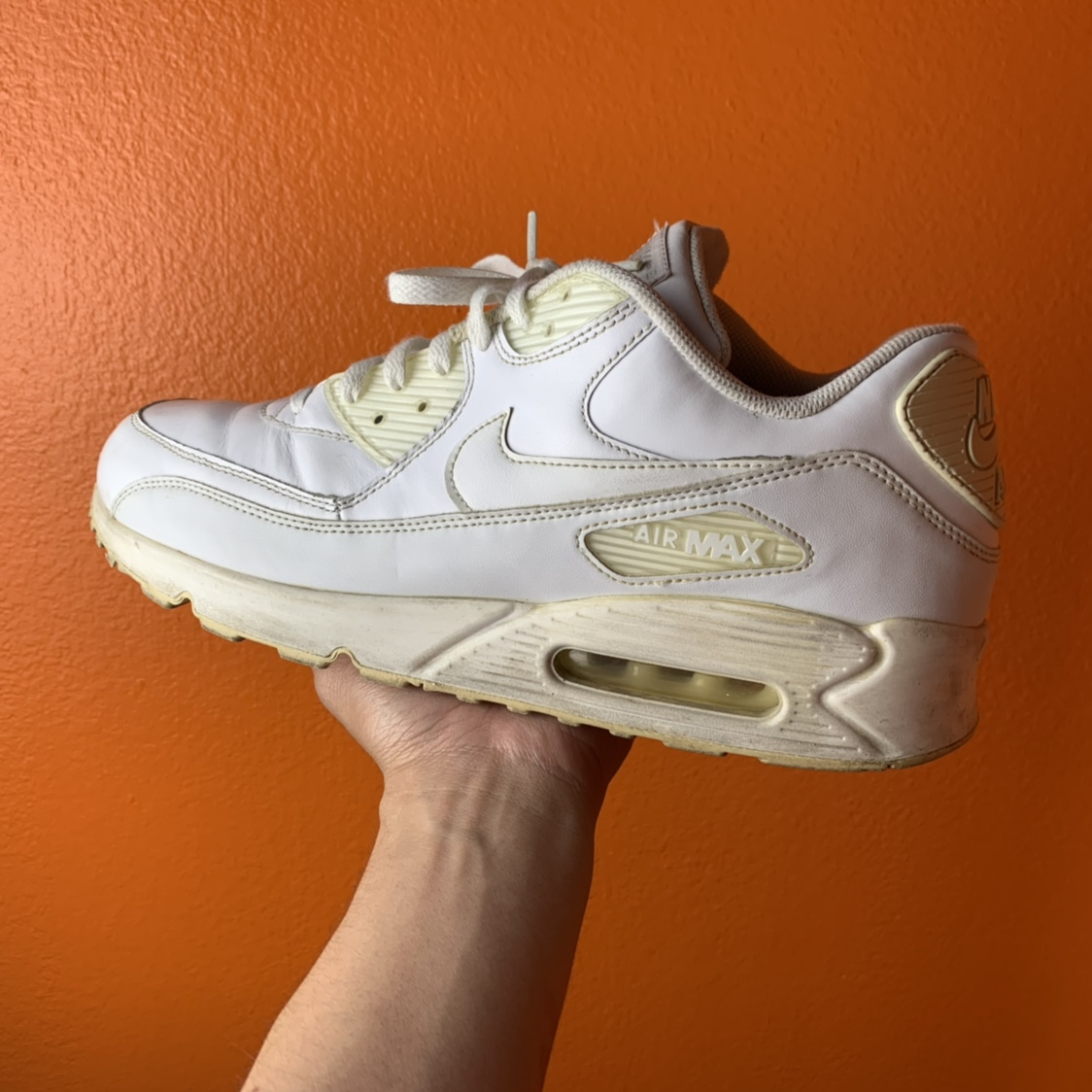 official photos 25ad9 2ab5b Old white Nike Air max 90 • mens 12• condition is... - Depop