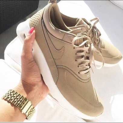 b72d78a6b4e3d Brown/tan/nude air max Thea - Size UK 4.5 Great... - Depop