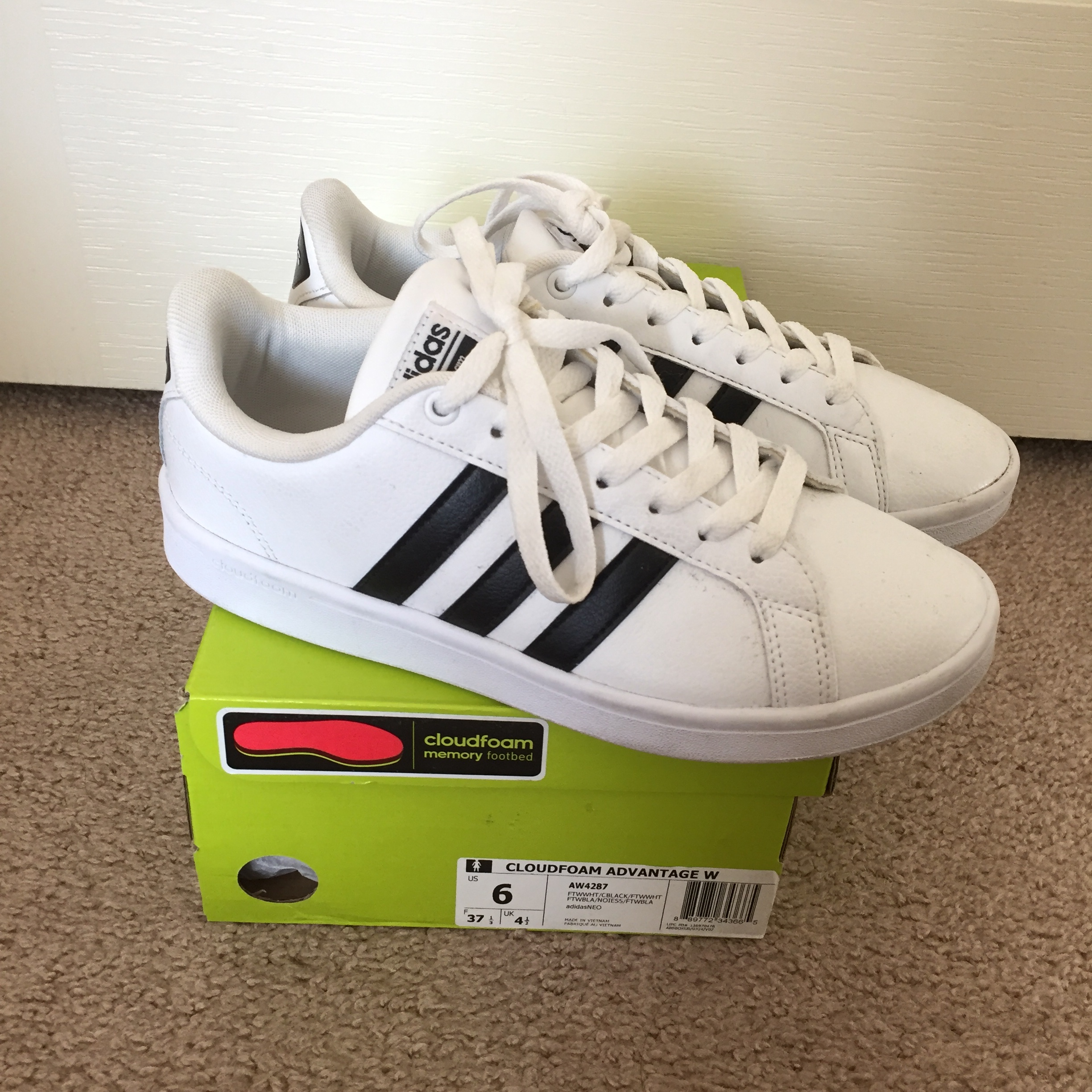 Adidas tennis court neo shoes. There in good Depop