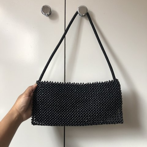 fc69325125d0 PRICE DROP!!! Small beaded bag Cute worn on shoulder as to - Depop