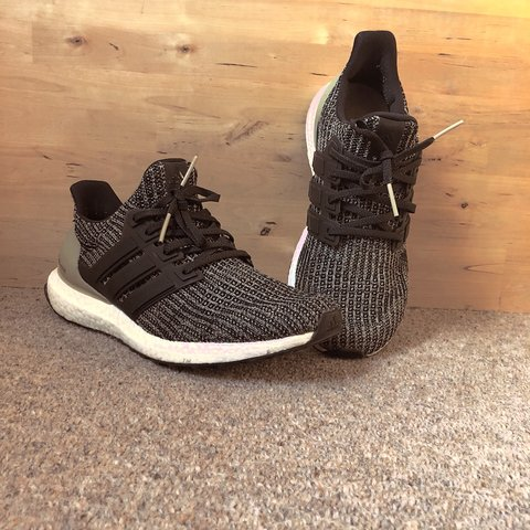 3965d6002 Adidas Ultra Boost 4.0 Core Black   Raw Gold UK Size 9   - Depop