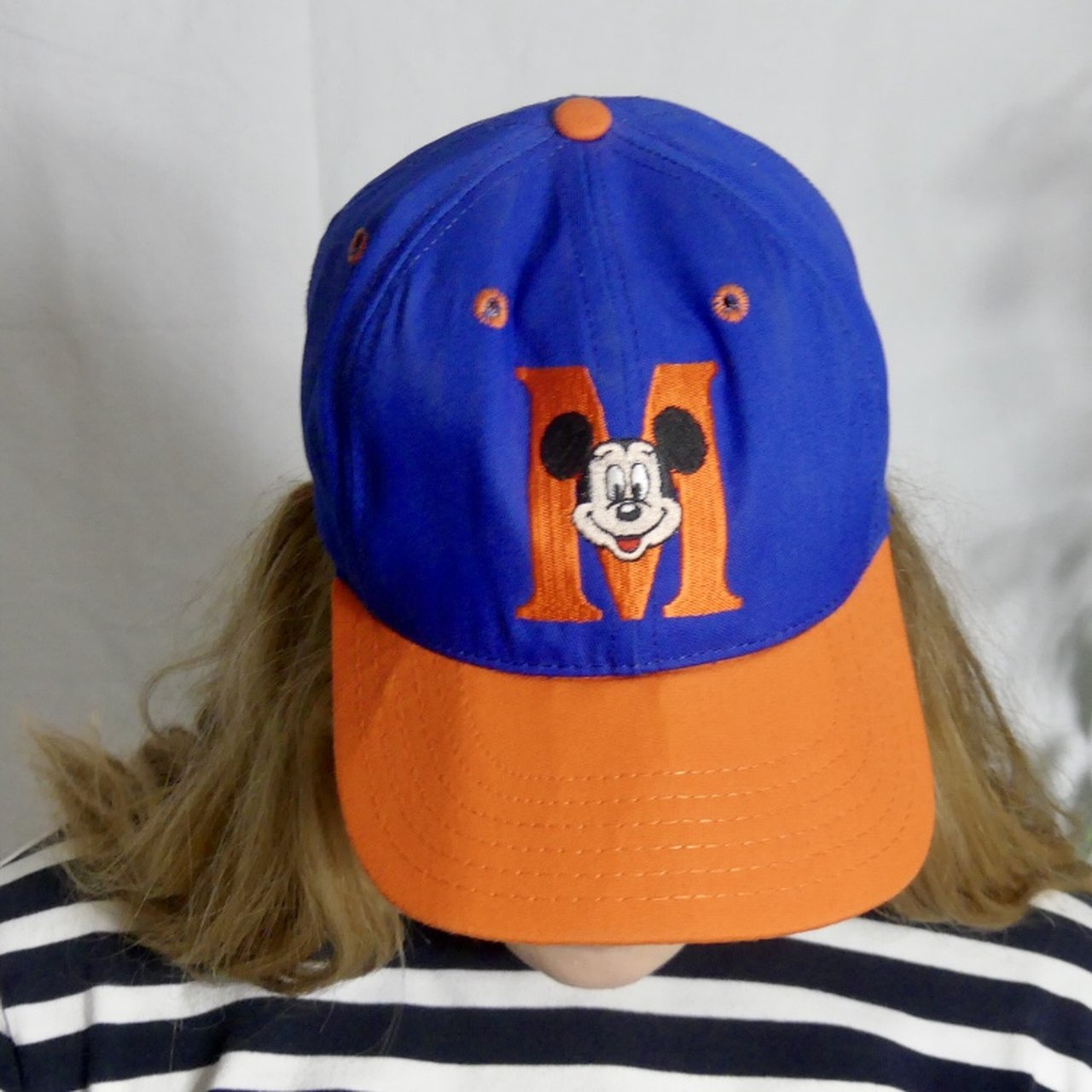 Mickey Mouse Disney blue and orange basketball dad green and - Depop aa30a961ff5a