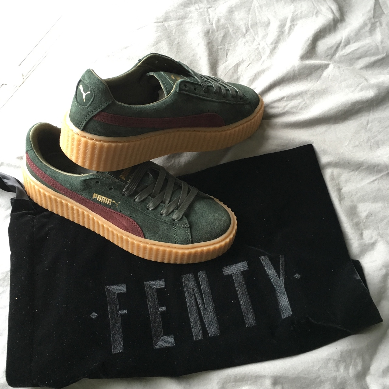 online store 0815e 2768c RIHANNA x FENTY PUMA CREEPER - Green Bordeaux • Uk ...