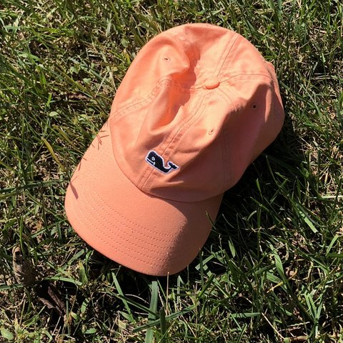 022d3563db78c salmon red pink vineyard vines hat. perfect condition - Depop