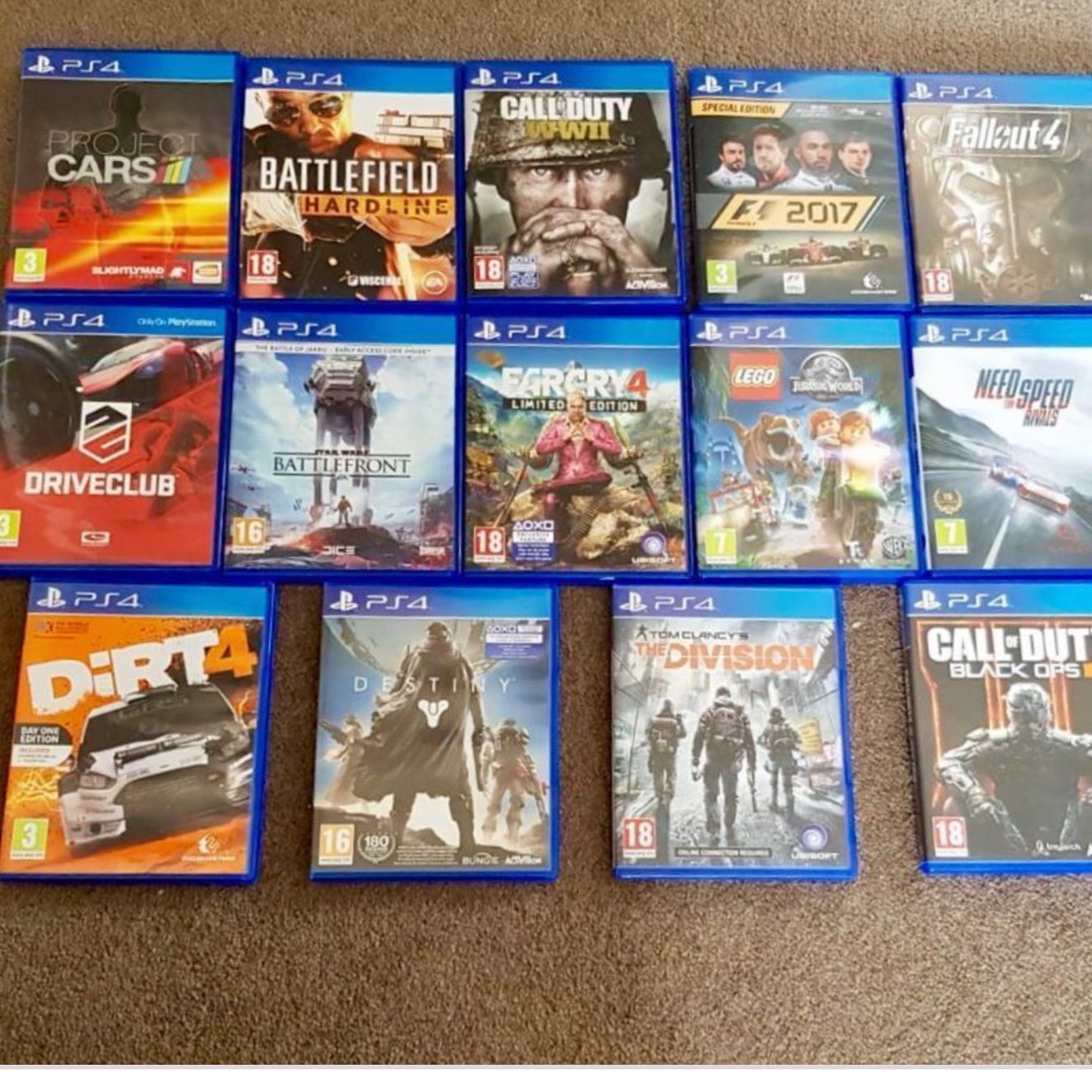 PS4 games list below  9 pound each and two for 15    - Depop