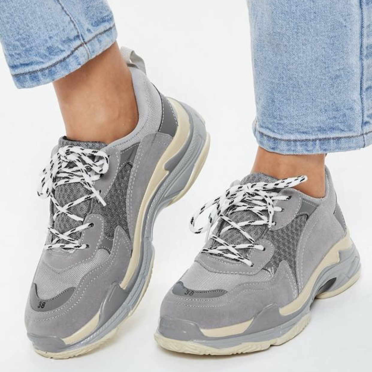 MISSGUIDED CHUNKY SOLE TRAINERS