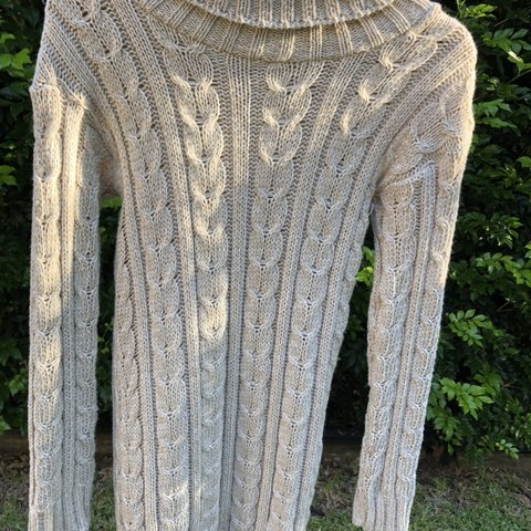 a97dcc11bec Beige Boohoo Turtleneck Jumper Dress Size S M and true to I - Depop