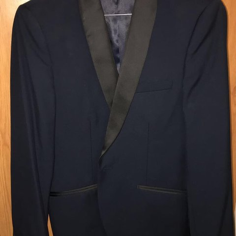 474728dd1e17d @shoppingbagsags. last month. London, United Kingdom. French Connection - Slim  Fit Navy Tuxedo Jacket - Shawl Collar Black ...