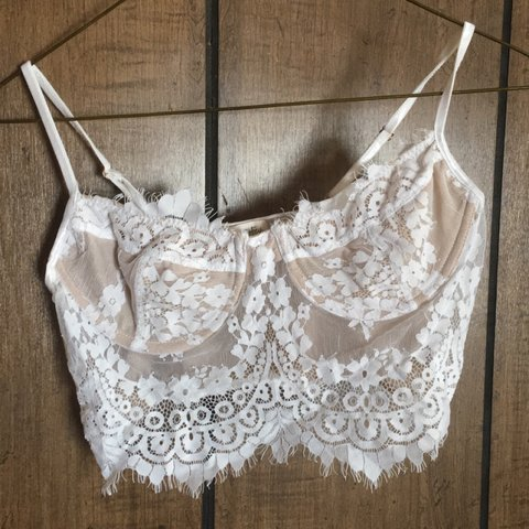 8961647881464  delrae. 20 days ago. United States. Lace Bralette Never worn