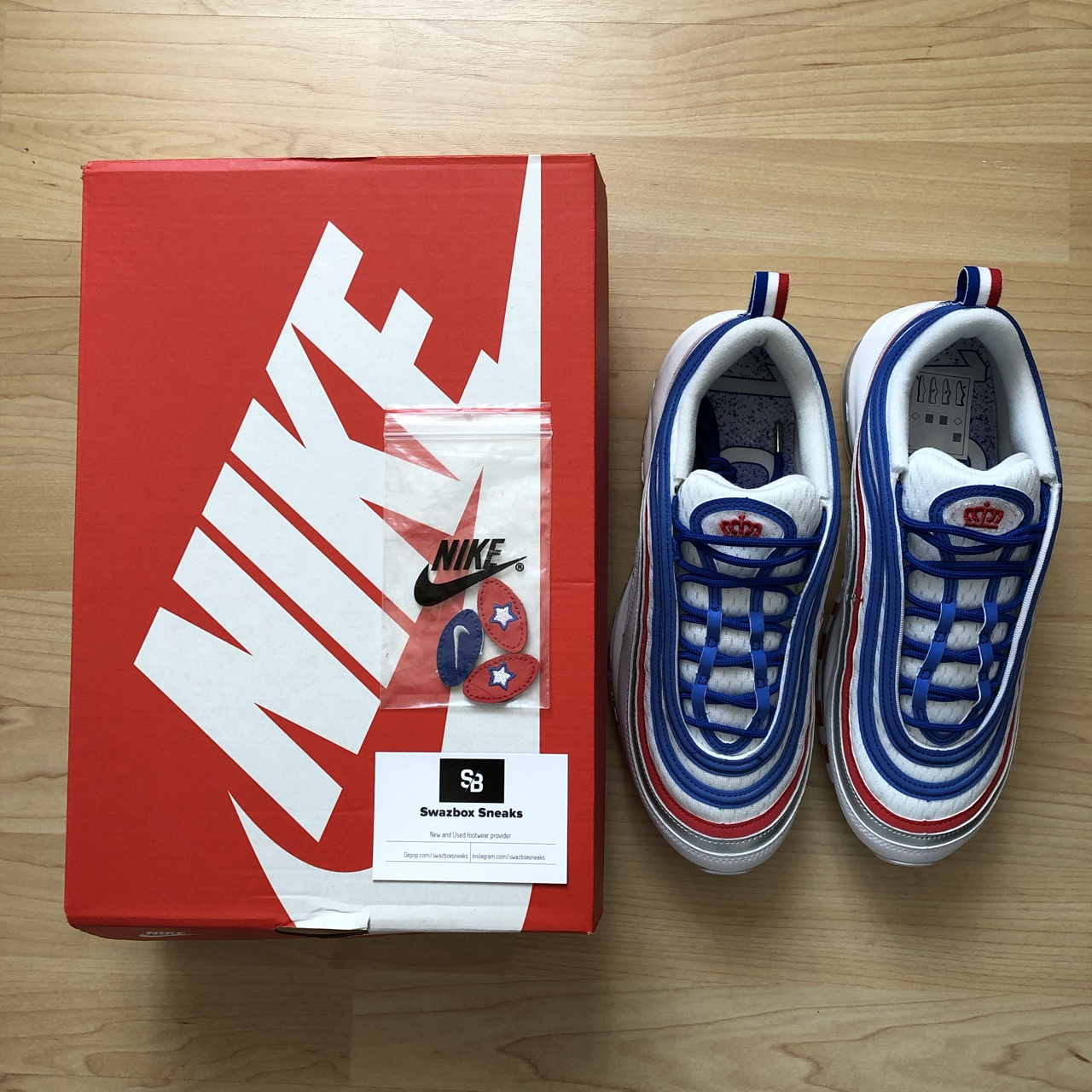 Nike Air Max 97 Game RoyalMetallic Silver Uk Depop
