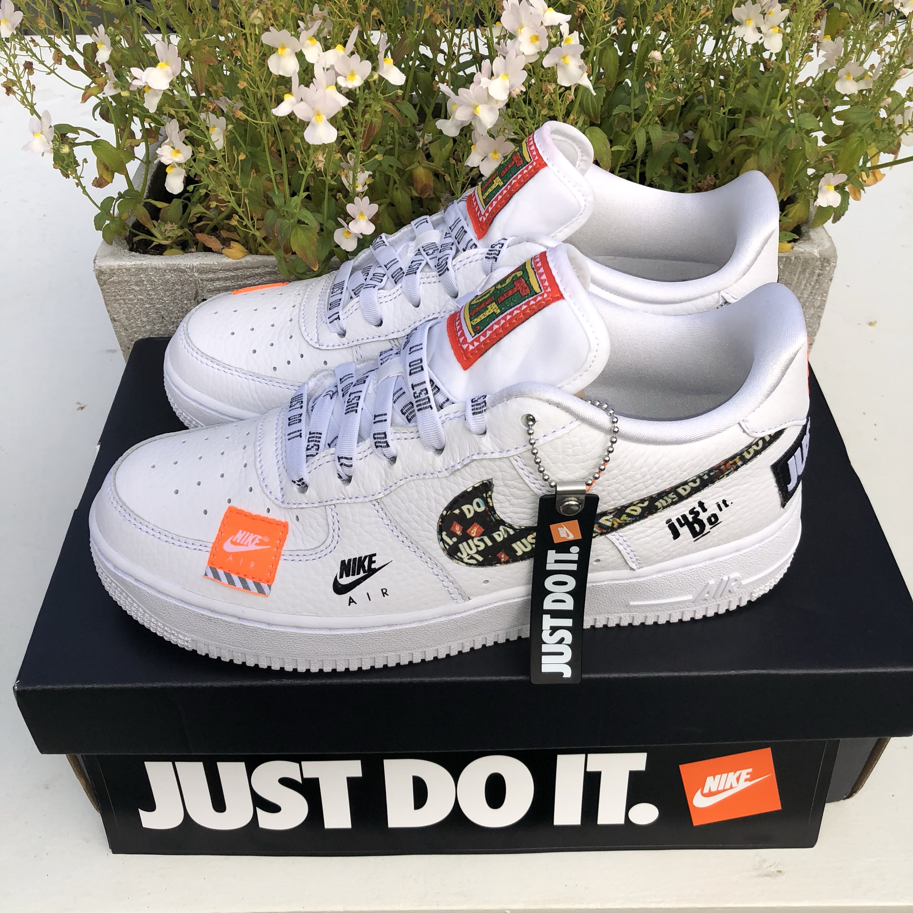 Nike Air Force 1 07 Just Do It Pack White Depop