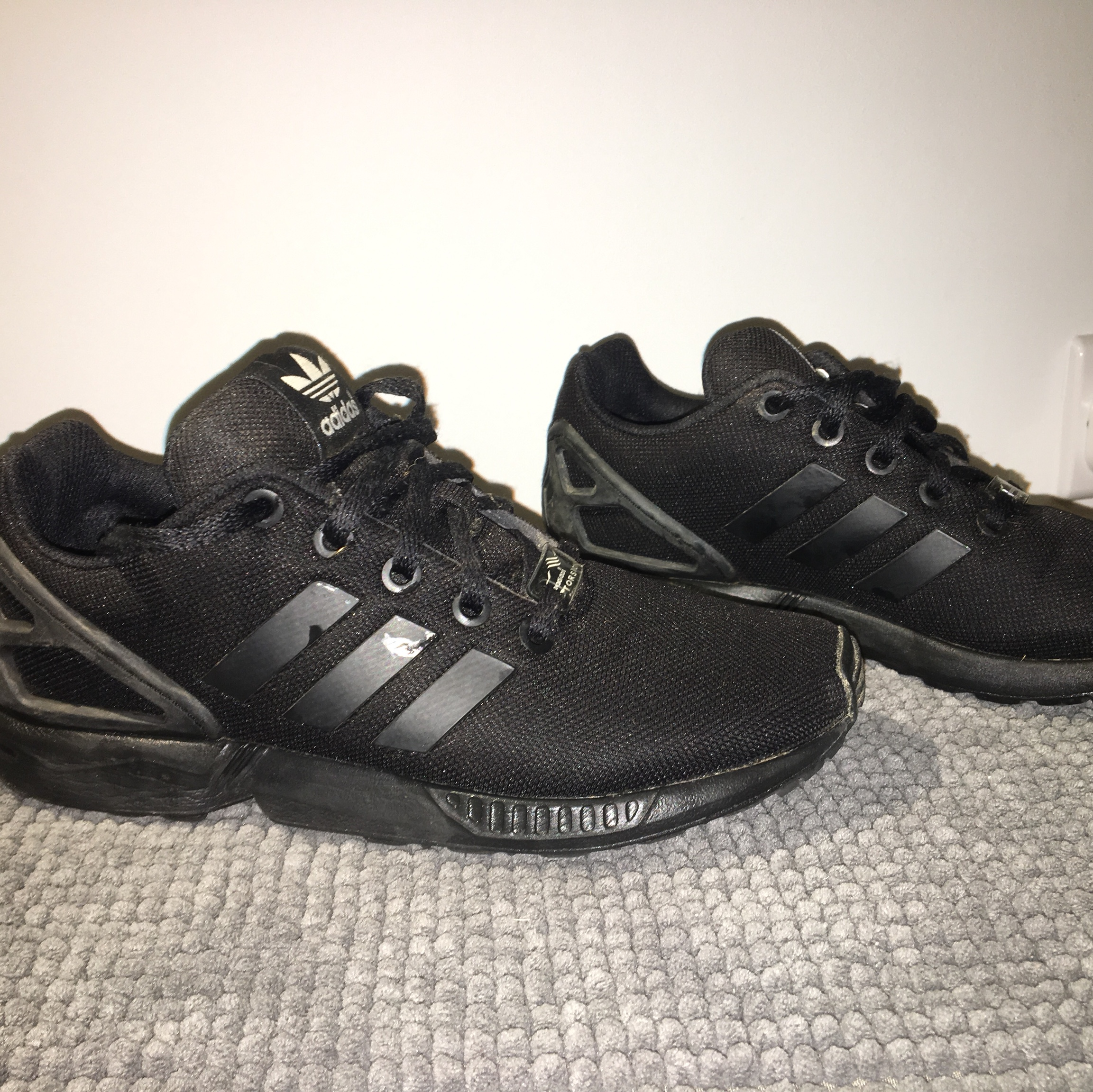 best service be7bc 9a8d3 Triple black Adidas zx flux , torsion Really good... - Depop