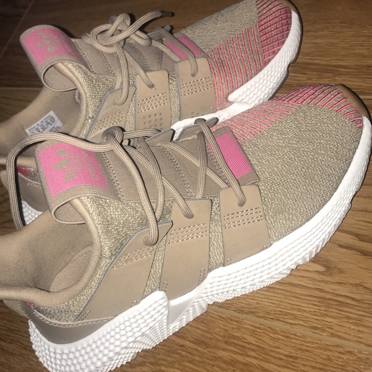 Adidas prophere nude and pink trainers, RRP: 89 pound...