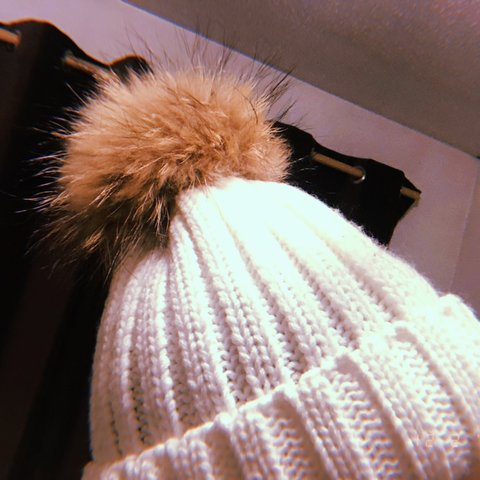 bae23e973afa4 White real fur winter hat. Excellent condition with no marks - Depop