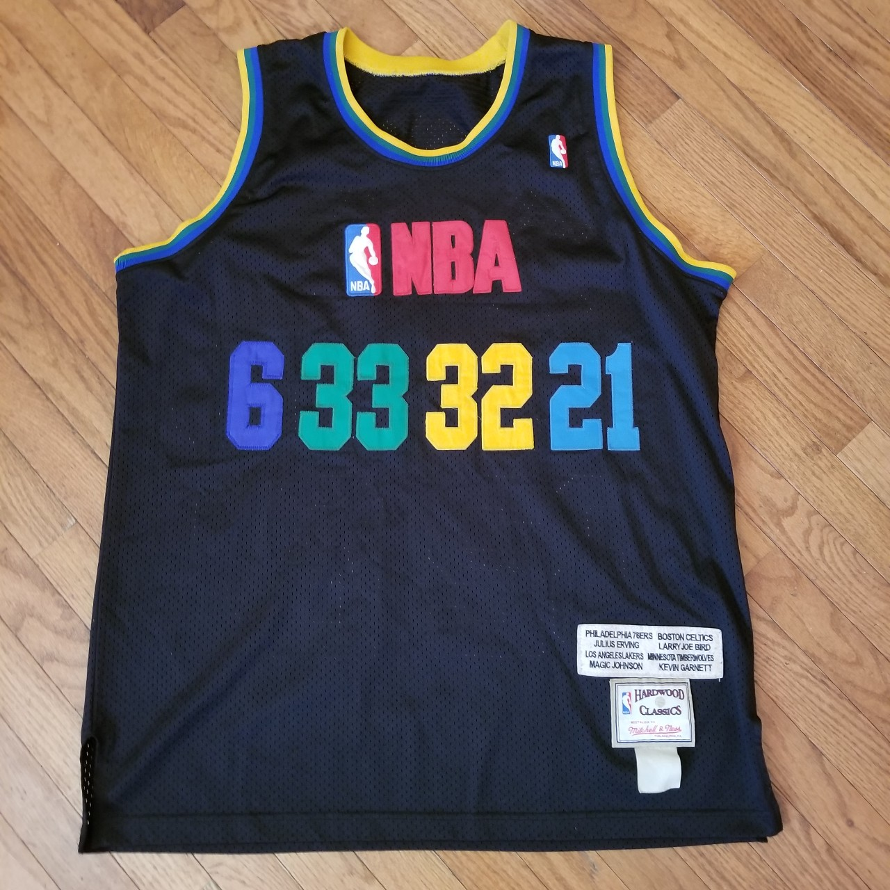 buy popular d2199 d77af Mitchell Ness Forwards of The Century Jersey Size XL... - Depop