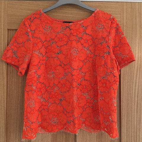3c78c3275ad28e Orange lace top from Topshop