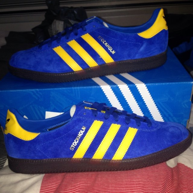 Adidas stockholm 2014 re-issue deadstock now! Size 10.5 got - Depop 862153c65d868