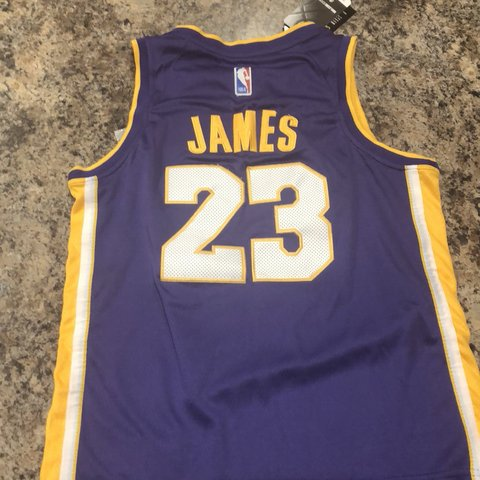 210af62afd0 Lebron James Lakers Jersey Nike dry-fit. Brand new with tags - Depop