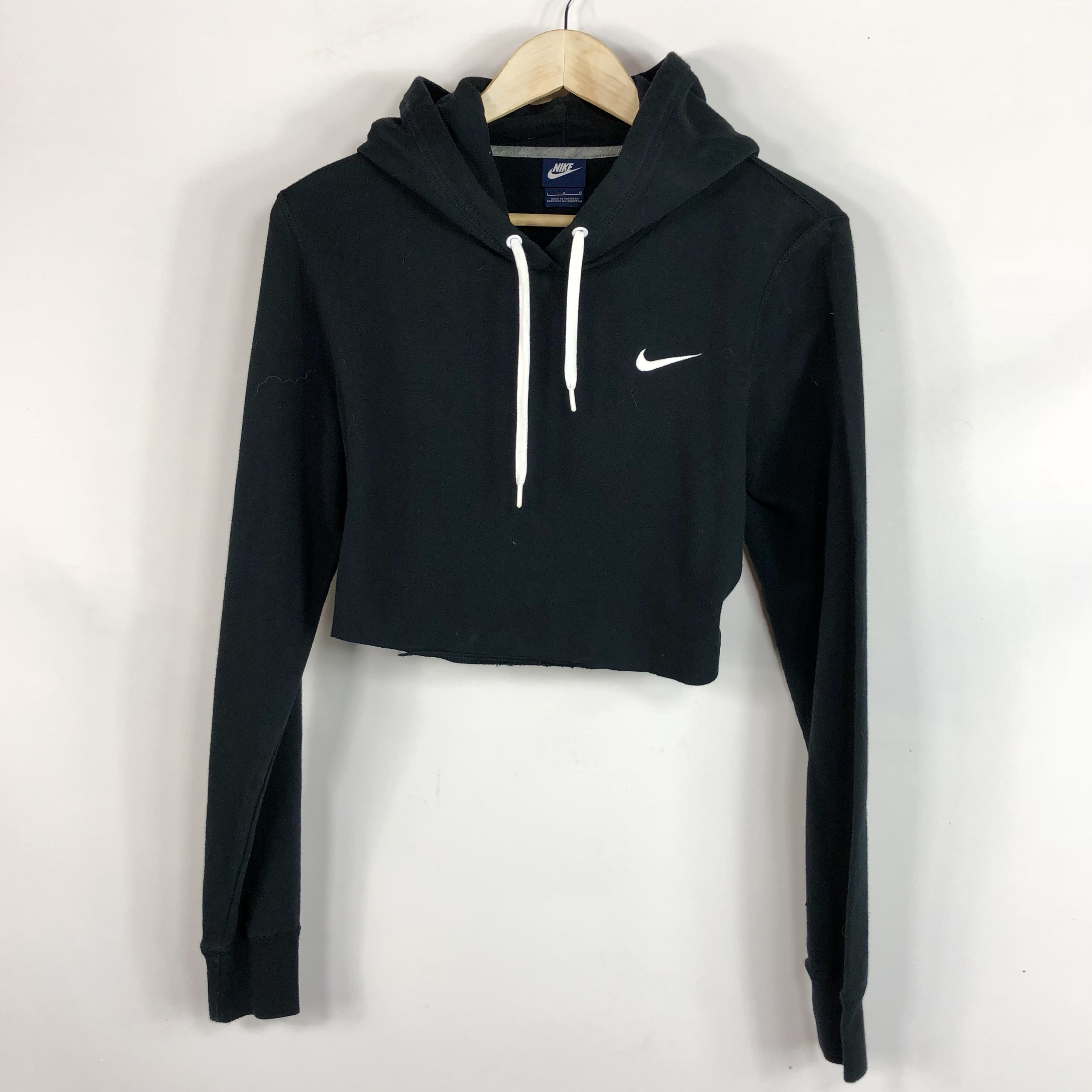 hot-selling authentic the sale of shoes footwear Nike Crop top Cropped hoodie sweater size small.... - Depop