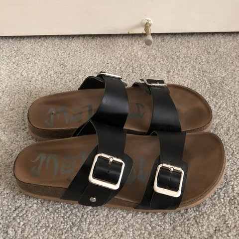 7e2ac494ada4 Black MadLove sandals from Target. Only worn a few times on - Depop
