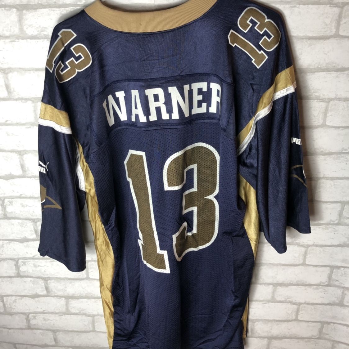 super popular 4fbef d482b Throwback Puma St.Louis Rams Kurt Warner Jersey size ...