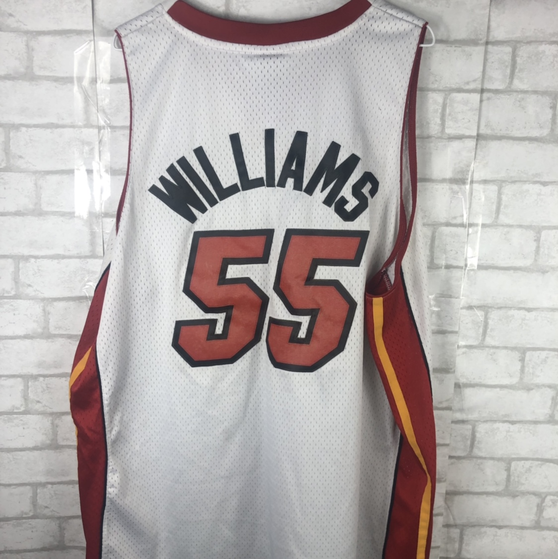 new style b0c3f 4dd88 official Reebok Miami Heat Jason Williams jersey... - Depop