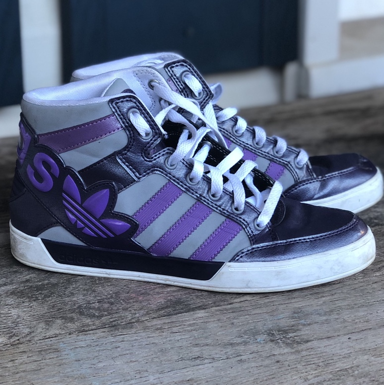 Purple Adidas High Top Shoes Dope Shoes