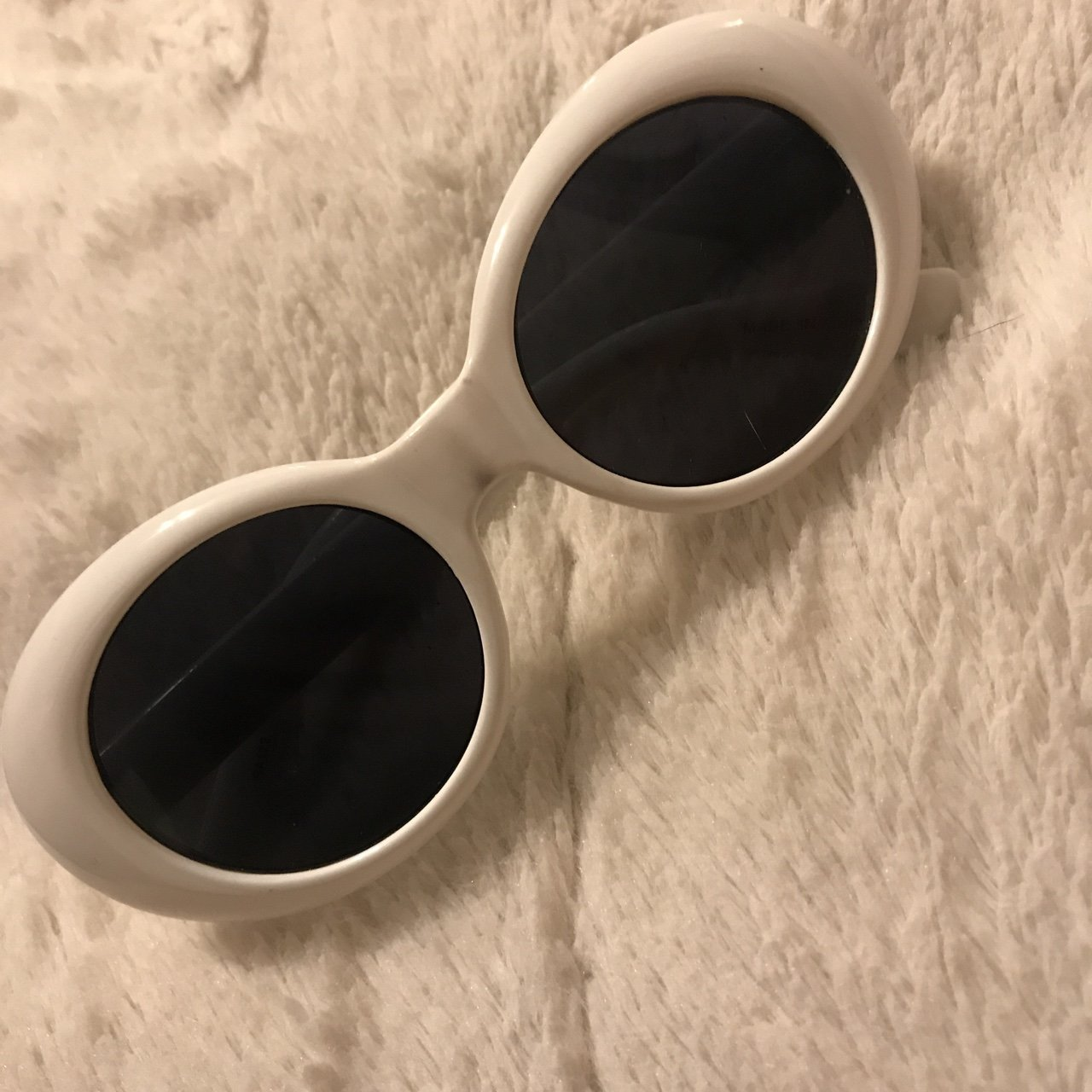 da095569be3 White clout goggles   glasses. 100% UV Protection. Come with - Depop