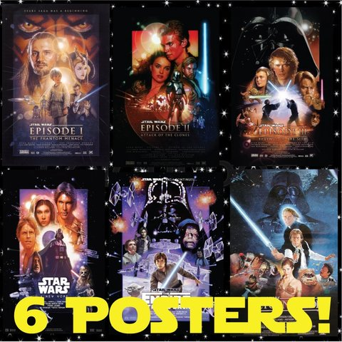 hd star wars poster bundle! all these awesome star wars just - depop