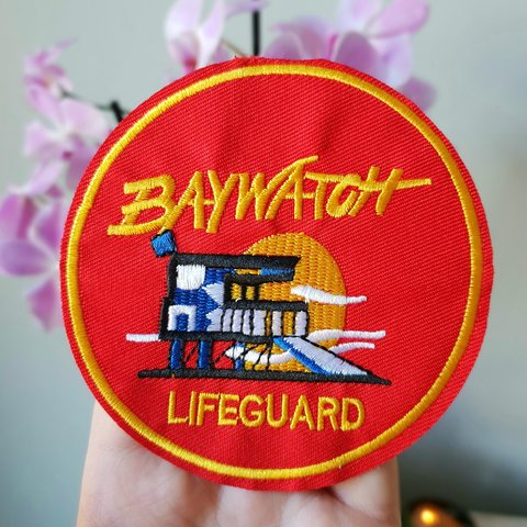 6172e8958518 ✨ Baywatch Lifeguard iron on patch   sew embroidered patches - Depop