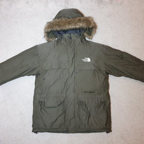 The North Face Mcmurdo Parka Green HyVent Goose Down Size to - Depop b2269fca8