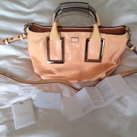 40149a4a8245 Chloé Ethel Satchel in sunrise. Barely used. Still has on of - Depop