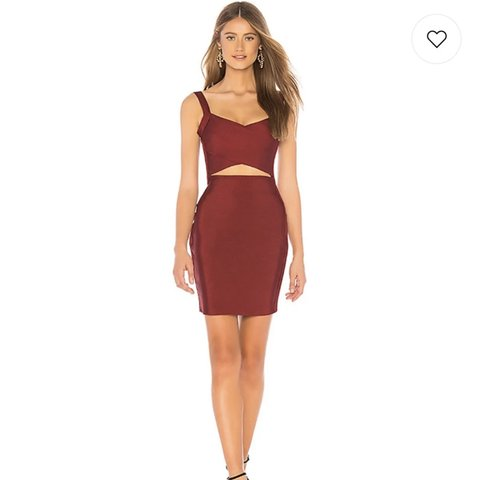 "6218a1acf34 ""Aluna Bandage Dress in Wine"" from Revolve!!! dress is so is - Depop"