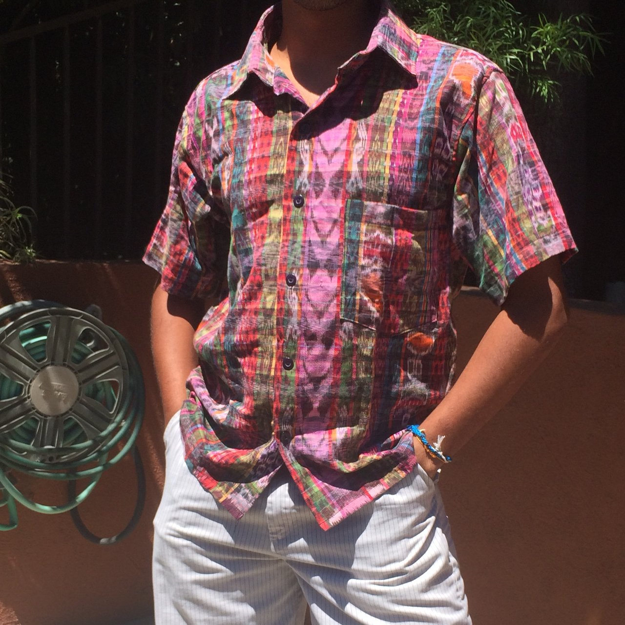 ca5df350d41 Colorful Guatemalan print button up
